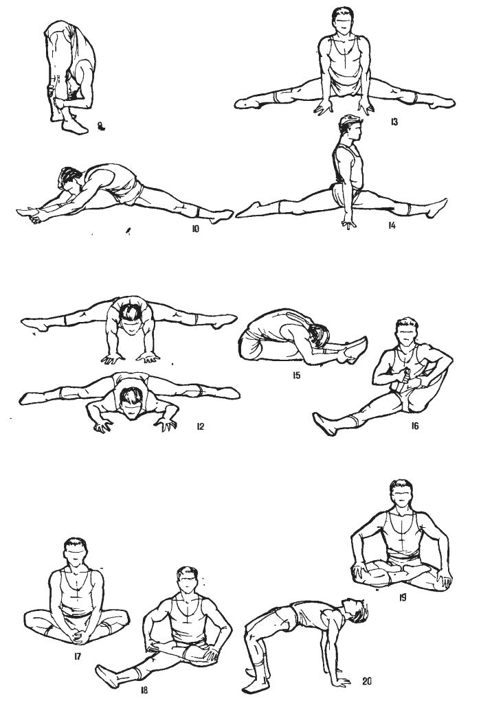 Упражнения на растяжку пошагово