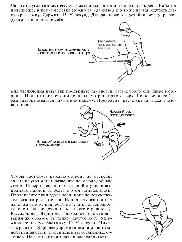 Упражнения для растяжки мужчин в домашних условиях 947